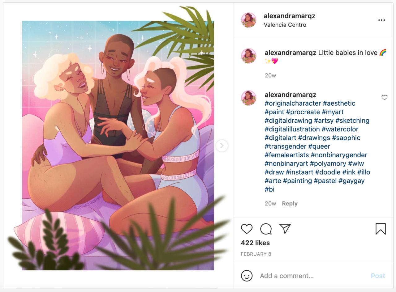 Alexandra Marqz Instagram Post