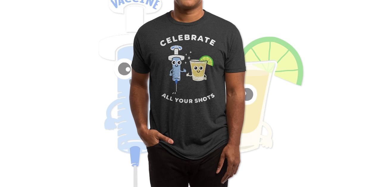 """Celebrate All Your Shots"" Men's Triblend T-Shirt by Felix Pimenta"