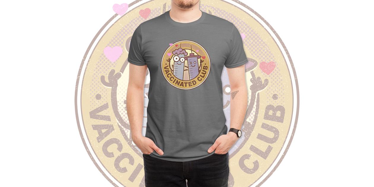 """Vaccinated Club"" Men's Regular T-Shirt by NARNIAZ"