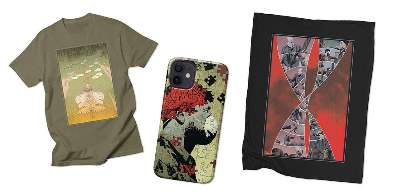 """""""GideonFalls#5 - Pg.17 Men's Regular T-Shirt, """"GideonFalls#17_cover"""" Phone Case, and """"GideonFalls#10 Pg. 19"""" Fleece Blanket"""