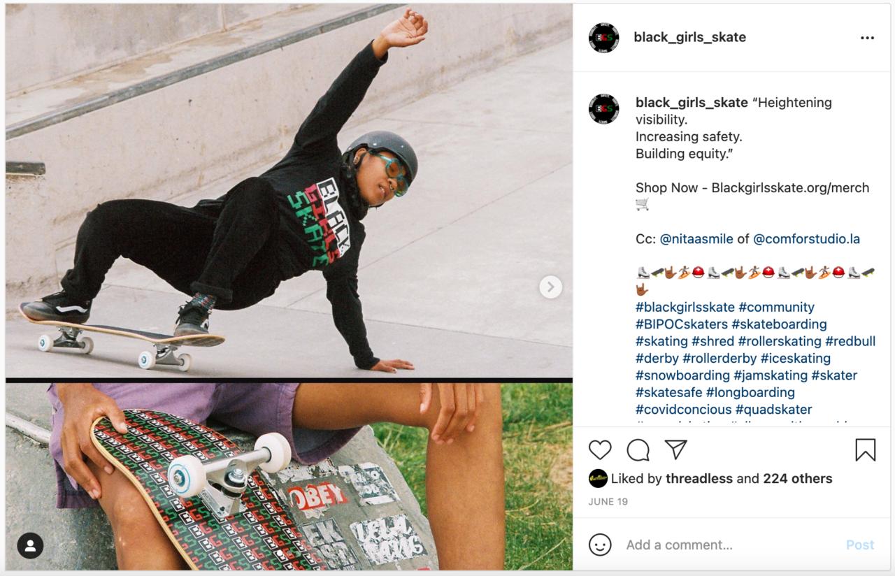 Black Girls Skate Instagram Post