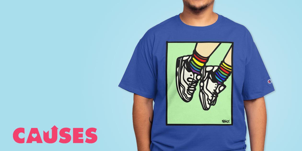 "Ninhol's ""Keep Walking"" Champion® T-Shirt"